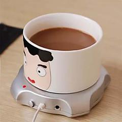 4 port usb hub kupinlämmitin office coffee tea muki lämmitin pad matto 2,5 W 5v talvella juoda lämmintä tietokone