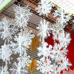 6db / 1set háromdimenziós hópelyhek kanyargós sztereó hólánc