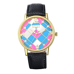 Unisex Dress Watch Fashion Watch Water Resistant / Water Proof Quartz Leather Band Casual Black Blue Brown Pink