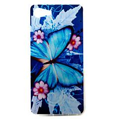 Til wiko lenny3 lenny2 telefon cover lilla blå sommerfugl mønster malet tpu materiale til wiko du føler dig føler lidt solrig jerry