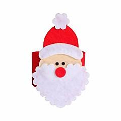 4 db karácsonyi mikulás szalvétagyűrű szalvéta tartók asztal karácsony dekoráció étterem