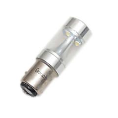 1157 P21 / 5W BA15d 30w 6xcree bianco / rosso / giallo / freddo 2100lm 6500k bianco per la luce di freno dell'automobile inverso lampada