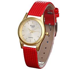 Damskie Modny Zegarek na nadgarstek / Kwarcowy Skóra Pasmo Nowoczesne Na co dzień Czarny Biały Czerwony Różowy