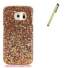 For Samsung Galaxy S7 edge  S7  S6 edge  S6  Rhinestone Case Back Cover Case Glitter Shine Hard PU Leather With Stylus