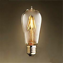 4W E26/E27 LED-glødepærer ST58 4 SMD 2835 400 lm Varm hvit Dekorativ AC 220-240 V 1 stk.