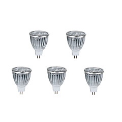 5pcs 10w MR16 800lm warm / koel licht lamp led spot lights (12v)