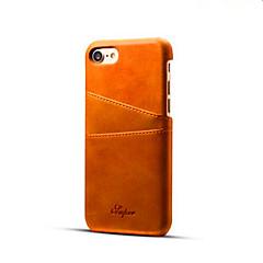 Pour Coque iPhone 7 / Coques iPhone 7 Plus Porte Carte Coque Coque Arrière Coque Couleur Pleine Dur Cuir PU pour AppleiPhone 7 Plus /