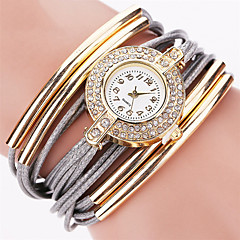 Women's Fashion Watch Wrist watch Bracelet Watch Quartz Punk Colorful PU BandVintage Sparkle Candy color Bohemian Charm Bangle Cool
