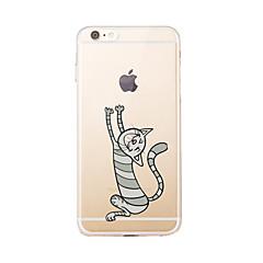 Per Transparente / Fantasia/disegno Custodia Custodia posteriore Custodia Gatto Morbido TPU per AppleiPhone 7 Plus / iPhone 7 / iPhone 6s