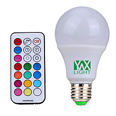 YWXLight® E27 Dimmable RGBW Lamp Led Bulbs 10W Colorful RGB Bulb 110V 220V 85-265V Chandeliers Led Light  IR Remote Controller