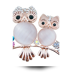 damesmode legering / strass / kristal broche pin partij / dag / casual dierlijke vorm sieraden 1pc