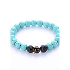 Bracelet Strand Bracelet Yoga Bracelet Agate Gem Turquoise Birthstones Party Halloween Birthday Congratulations Business Gift Casual