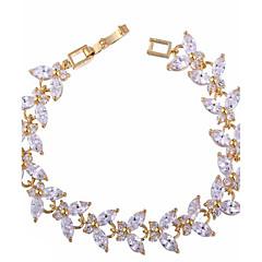Dame Kæde & Lænkearmbånd Farverig luksus smykker Zirkonium Kvadratisk Zirconium Opal Hvid Smykker ForBryllup Fest Fødselsdag Forlovelse