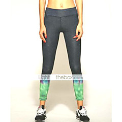 Slim Fitted Yoga Pants With Aurora Color