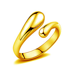 18k Gold Ring Non Stone Wedding / Party / Daily / Casual Jewelry Gold Women Ring 1pcOne Size Gold / Silver