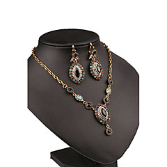 Joyas 1 Collar / 1 Par de Pendientes Circonita Casual 1 Set Mujer Plateado Regalos de boda