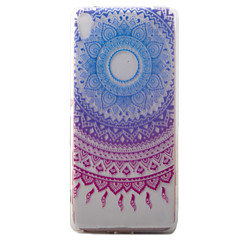 Do sony xperia xa obudowa niebieska campanula wzór malowany tpu materiał obudowa telefonu