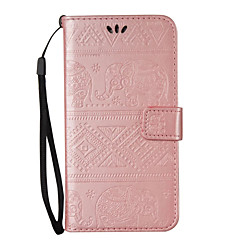 For Samsung Galaxy S7 edge S6 edge Plus Case Cover Elephant Pattern Embossed Model Table PU Light Card Stent Lanyard Holster S6 S6 edge S5 S4 S3