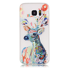 For Samsung Galaxy S7 Edge Lyser i mørket Mønster Etui Bagcover Etui Dyr Blødt TPU for SamsungS7 edge S7 S6 edge plus S6 edge S6 S5 S4