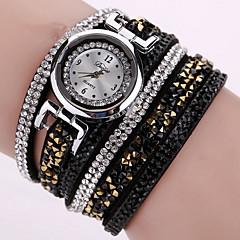 Women's Fashion Watch Wrist watch Bracelet Watch Quartz Colorful PU Band Vintage Sparkle Bohemian Charm Bangle Cool CasualBlack White