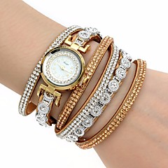 Damen Modeuhr Armbanduhr Armband-Uhr Quartz Mehrfarbig Imitation Diamant PU BandVintage Glanz Böhmische Bettelarmband Armreif Cool Bequem