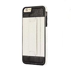 Mert Kártyatartó / Tartó gyűrű Case Hátlap Case Egyszínű Puha TPU mert AppleiPhone 7 Plus / iPhone 7 / iPhone 6s Plus/6 Plus / iPhone