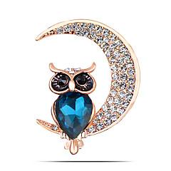 / Günlük / gündelik hayvan kadın moda alaşım / yapay elmas ay broş pin parti takı 1pc şekiller
