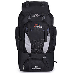 80 L Backpacker-ryggsäckar Rese Duffelväska Resa Organisatör Ryggsäck Camping Jakt Resa Bärbar Multifunktionell AndningsfunktionNylon