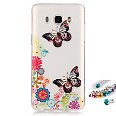 For Samsung Galaxy J7 J5(2016) G530 G360 Cover Case Butterfly Pattern Painting IMD Technology Tpu Material Phone Shell And Dust Plug Combination