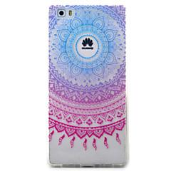 Voor huawei y5ii y6ii case hoesje blauw campanula patroon geverfd tpu materiaal telefoon hoesje voor y625 y635 5x p9 p8 lite