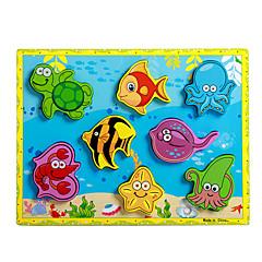 직소 퍼즐 교육용 장난감 / 직쏘 퍼즐 빌딩 블록 DIY 장난감 돌핀 / 물고기 용품 / 문어 8 나무 무지개 레져 취미용품