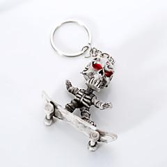 avrupa ve abd yüksek dereceli kaliteli anahtarlık yaratıcı butik kauçuk kaykay iskelet anahtarlık asmak