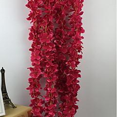 1 1 Tak Kunststof / Overige Hortensia's / Overige Bloemen voor op de muur Kunstbloemen