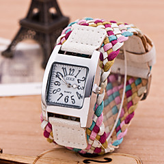 Men's Women's Sport Watch Dress Watch Fashion Watch Wrist watch Bracelet Watch Colorful Punk Quartz PU BandVintage Candy color Bohemian Strap Watch