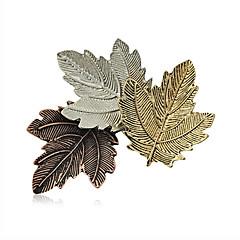 kadın moda Retro alaşım broş şık pim günlük / gündelik üç yaprak şekli takı aksesuar 1pc