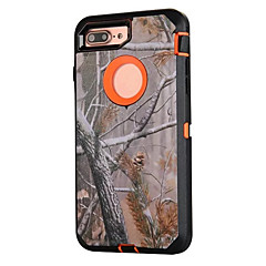 Για Ανθεκτική σε πτώσεις / Προστασία από τη σκόνη / Με σχέδια tok Πλήρης κάλυψη tok Καμουφλάζ Σκληρή Σιλικόνη για AppleiPhone 7 Plus /