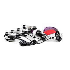 12V 인테리어 장식 4IN1 분위기 빛 램프를 점등 배 3LED 자동차 충전