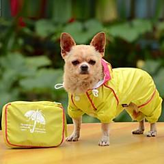 Σκύλος Αδιάβροχο Πάλτο Ρούχα για σκύλους Αδιάβροχη Μονόχρωμο Κίτρινο Κόκκινο Μπλε
