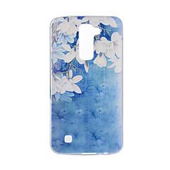Til lg v20 v10 cover til blomstermønster bagcover blødt tpu til k10 k8 k7 g5 g4 g3