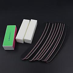 13PCS/set Sanding Files Buffer Block Nail Art Salon Manicure Pedicure Tools UV Gel Set Kits