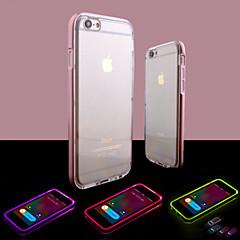 Voor iPhone 8 iPhone 8 Plus iPhone 6 iPhone 6 Plus Hoesje cover LED-knipperlicht Transparant Achterkantje hoesje Effen Kleur Zacht TPU