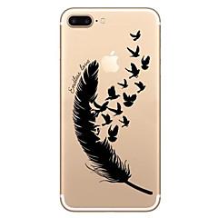 Na Odporne na wstrząsy Wytłaczany wzór Wzór Kılıf Etui na tył Kılıf Pióro Miękkie TPU na AppleiPhone 7 Plus iPhone 7 iPhone 6s Plus/6