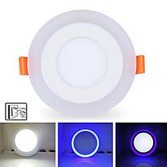 6W + 3W 3model LED lámpa panel fény kétszínű led mennyezeti süllyesztett világítás beltéri világítás
