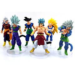 Anime Akciófigurák Ihlette Dragon Ball Goku Anime Szerepjáték Kiegészítők ábra Sárga PVC