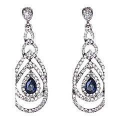 Drop Earrings Sapphire Crystal Drop Royal Blue Jewelry Wedding Party Daily 1 pair