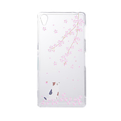 For SONY Xperia Z5 Z3 Case Cover Cat Pattern Back Cover Soft TPU