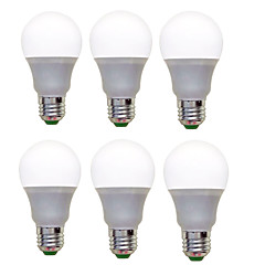 12W E26/E27 LED Globe Bulbs A60(A19) 12 SMD 2835 1200 lm Warm White Cool White Decorative AC 220-240 V 6 pcs