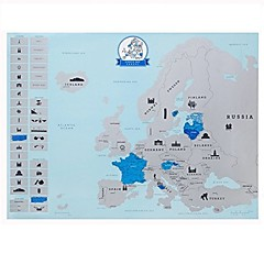 Deluxe EuropeAN Scratch Off Map Europe Edition of Travel Vacation Personalized Log Scratch off World (Europe Version)