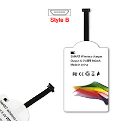 mindzo qi standaard 5V1A style-b draadloze oplader ontvanger voor alle android micro usb style-b smartphone