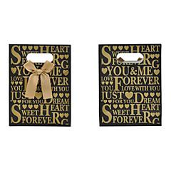 선물 가방 bowknot 문자 패턴 (1 개)를 lureme